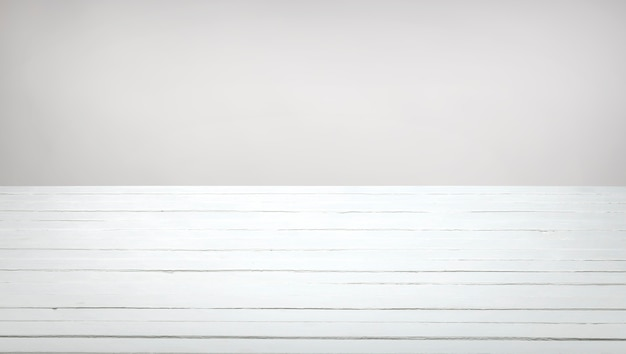 Table En Bois Blanc Photo Premium