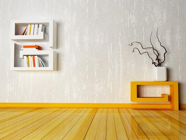 Une table créative et une étagère Photo Premium