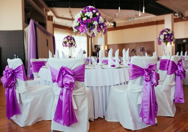 Table Dressée Pour Un Mariage Ou Un Autre Dîner événementiel. Photo Premium