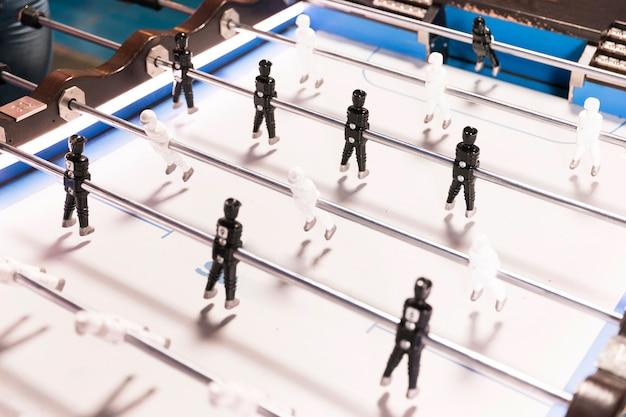 Table de foot haute vue avec fond blanc Photo gratuit