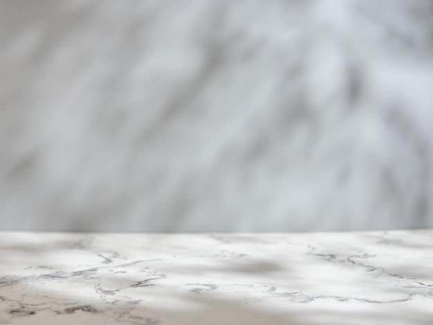 Table Et Mur En Marbre Avec Lumière Et Ombre Naturelles Photo Premium