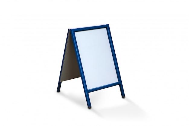 Tableau de menu vierge pour café isolé sur fond blanc Photo Premium