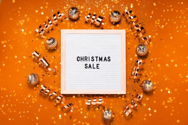 Tableau De Vente De Noël Photo Premium