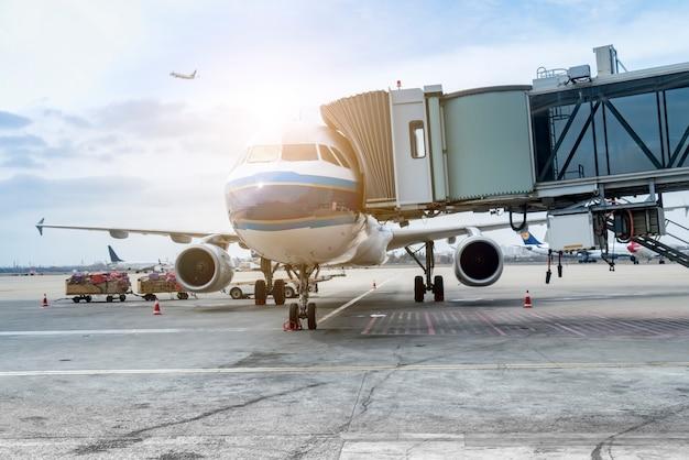 Tablier de l'aérodrome Photo Premium