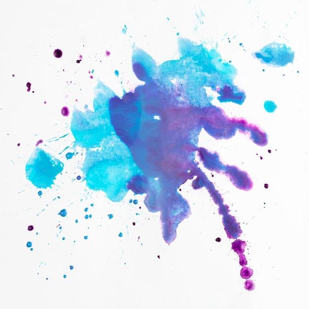 Taches artistiques colorées des éclaboussures d'aquarelle Photo gratuit
