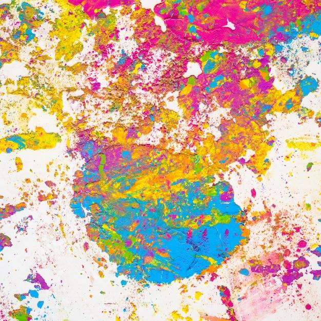 Taches de couleurs sèches brillantes violettes, bleues, vertes et jaunes Photo gratuit