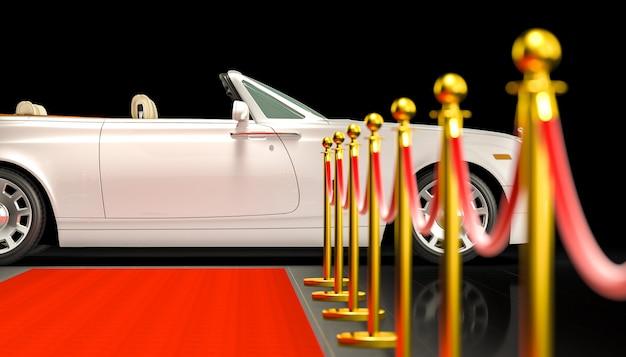 Tapis rouge et voiture Photo Premium