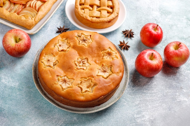 Tarte Aux Pommes Maison, Gâteau Et Galette. Photo gratuit