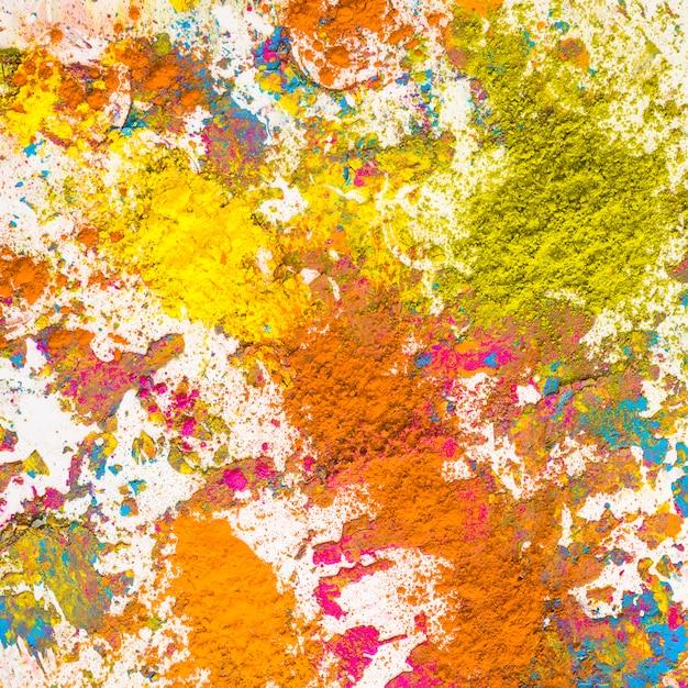 Tas de couleurs sèches orange, jaune et moutarde Photo gratuit