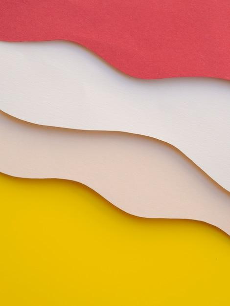 Tas de vagues de papier abstrait coloré Photo gratuit