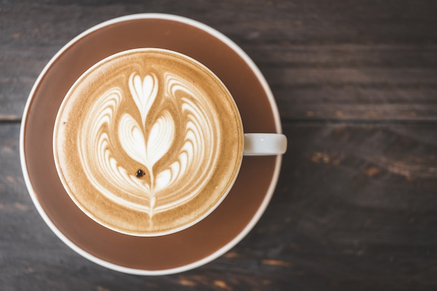 Tasse de café au lait Photo gratuit