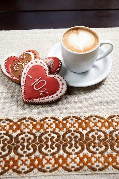 Tasse De Café Avec Biscuits Photo gratuit