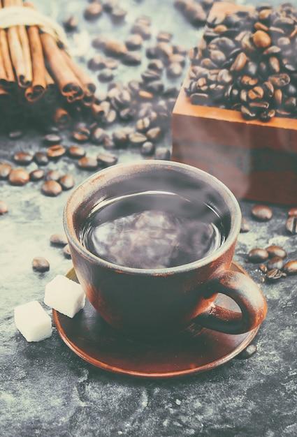 Tasse à café. nourriture et boisson. photo. Photo Premium
