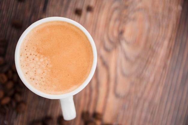 Tasse à café vue de dessus Photo gratuit