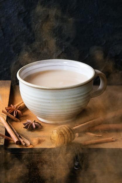 Tasse De Masala Chai Photo Premium