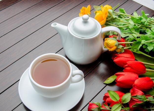 Tasse de thé dans le concept de restauration Photo Premium