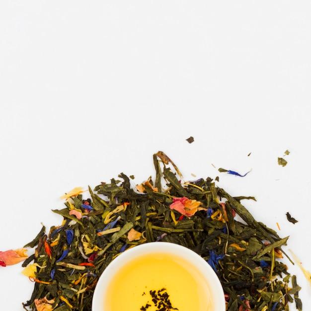 Tasse de thé vue de dessus Photo gratuit