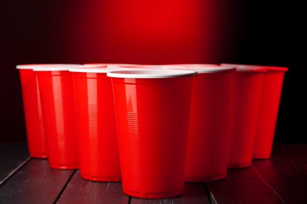 Tasses à bière pong Photo Premium