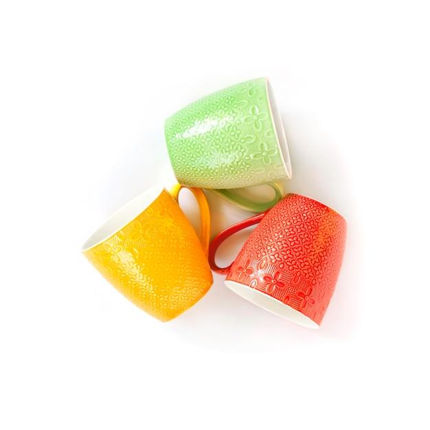 Tasses Colorées Photo Premium