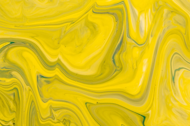 Technique De Drainage Jaune En Acrylique Photo gratuit