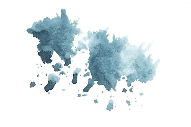 Teintes aquarelle bleu foncé peinture fond de trait Photo Premium