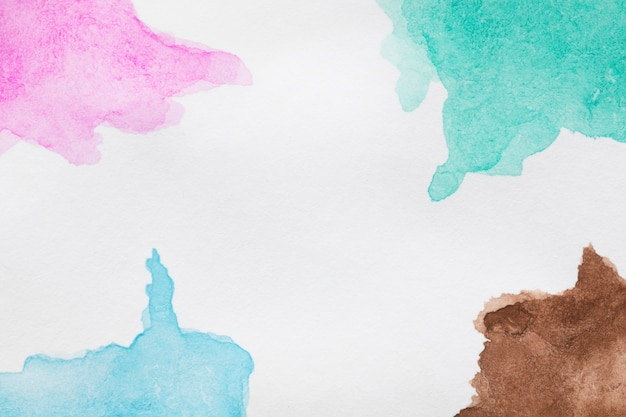 Teintes bleues et roses peintes à la main Photo gratuit