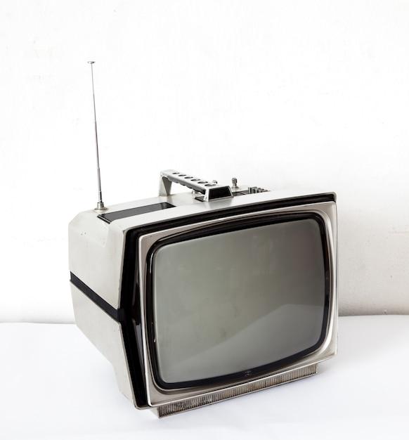 Téléviseur gris vintage Photo Premium