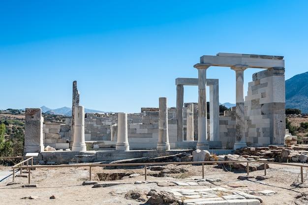 Temple de déméter à naxos Photo Premium