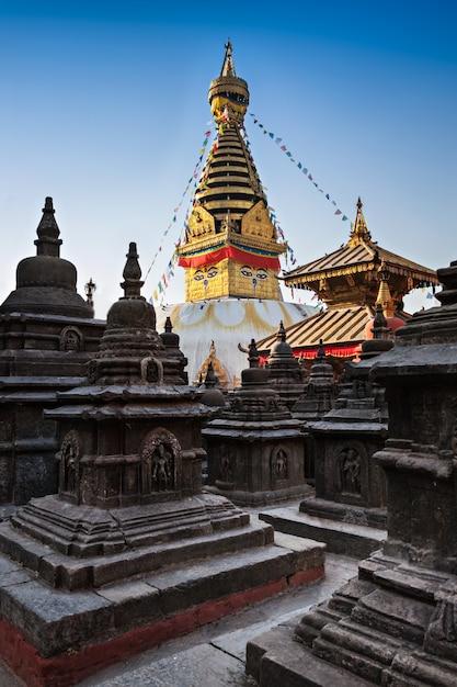Temple de swayambhunath Photo Premium