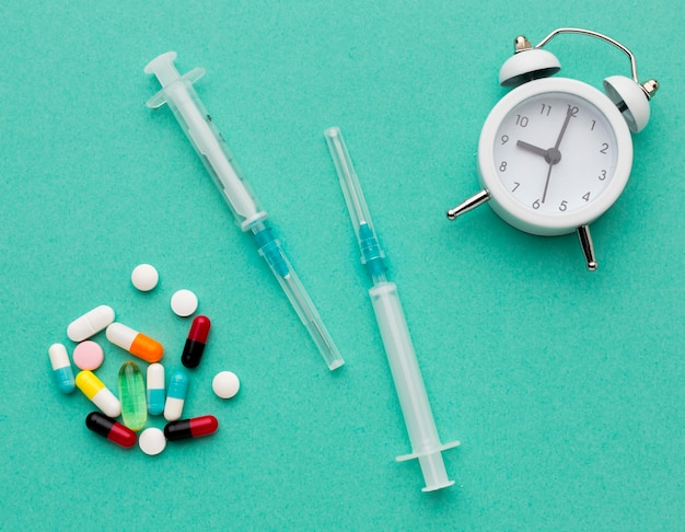 Temps De Vue De Dessus Pour Les Pilules Photo gratuit