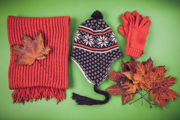 Tenue d'automne femme vêtements et accessoires Photo Premium