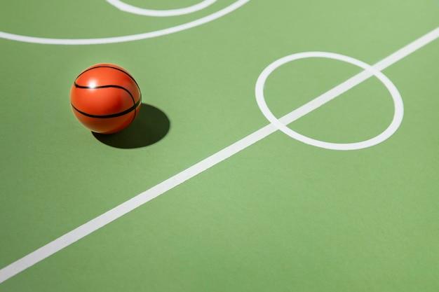 Terrain De Basket Minimal Encore La Vie Photo gratuit