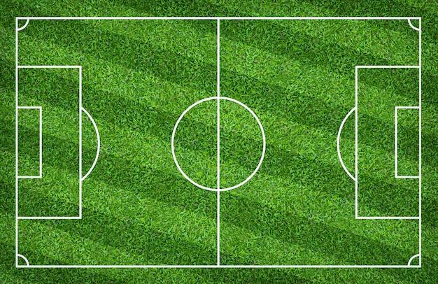 Terrain de foot ou terrain de foot pour le fond. avec motif de pelouse verte. Photo Premium