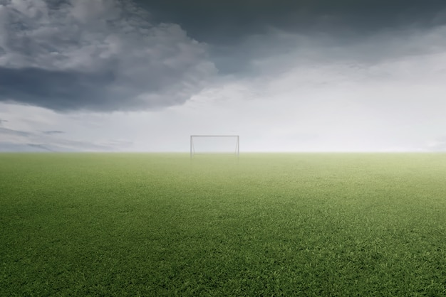 Terrain de foot vert Photo Premium