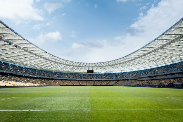 Terrain De Football Vide Photo Premium