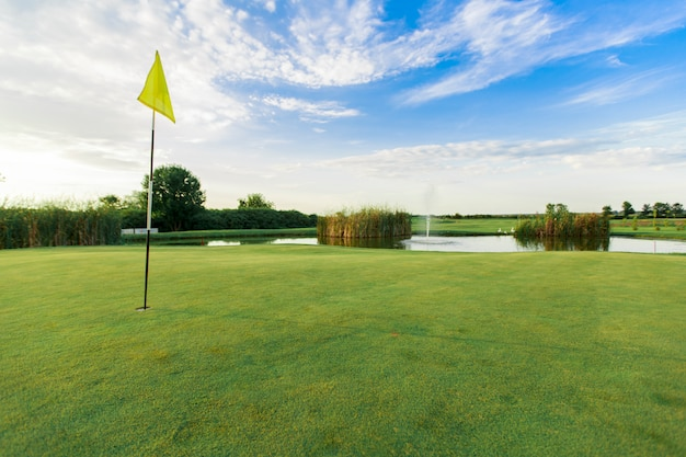 Terrain de golf Photo Premium