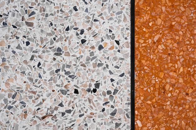Terrazzo sol en pierre polie et motif de mur et la surface de couleur marbre et pierre de granit Photo Premium