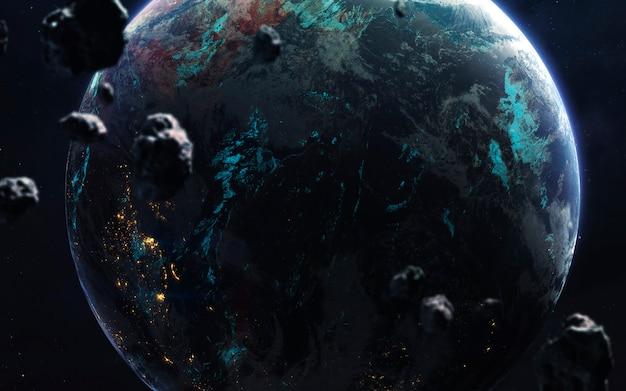 Terre. espace lointain, science-fiction fantastique Photo Premium