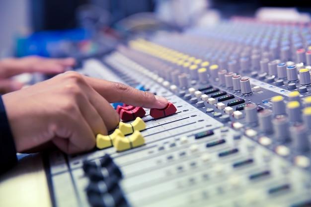 Test du moteur système audio. Photo Premium