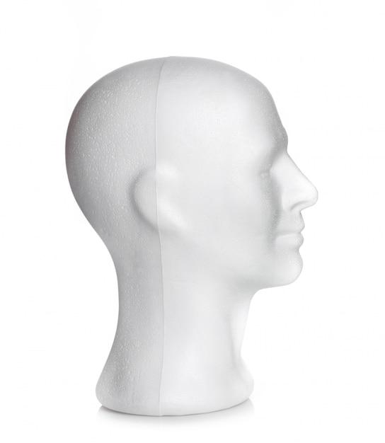 Tête masculine en polystyrène Photo Premium