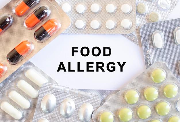 Texte Allergie Alimentaire O Photo Premium