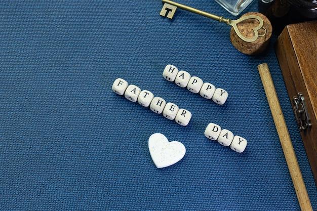 Texte en bois pour la fête des pères Photo Premium