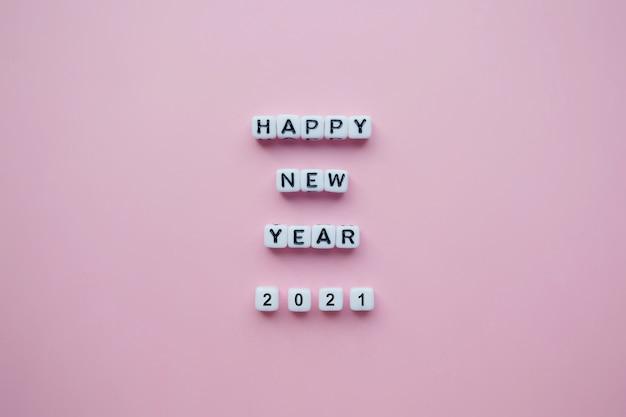 Texte De Bonne Année 2021 Avec Des Blocs Photo Premium