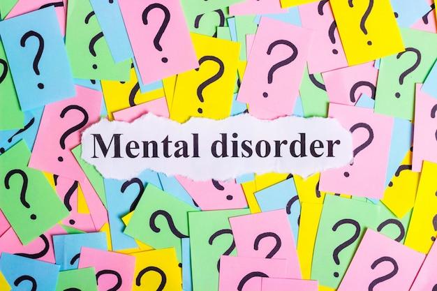 Texte Du Syndrome De Trouble Mental Sur Des Notes Autocollantes Colorées Photo Premium