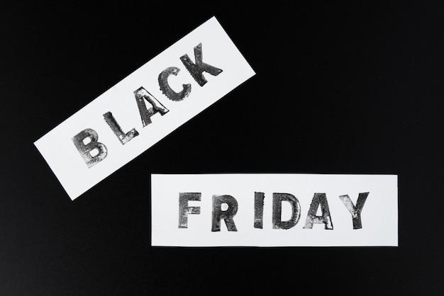 Texte de vendredi noir sur fond sombre Photo gratuit