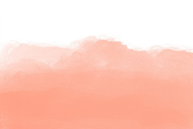 Texture aquarelle pêche sur fond blanc Photo gratuit