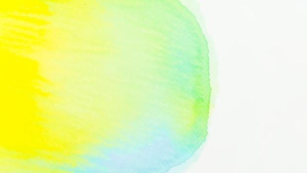 Texture aquarelle verte et jaune sur fond blanc Photo gratuit