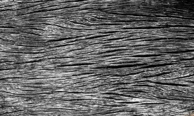 Texture en bois fissurée noire. Photo Premium