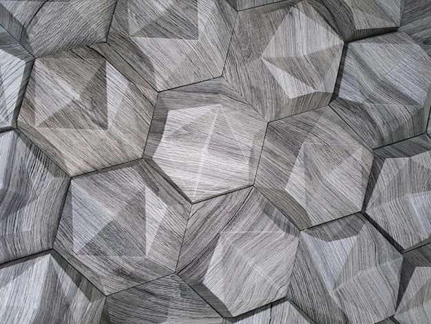 La Texture Des Carreaux De Céramique Sous La Forme D'un Hexagone En Pierre Naturelle De Couleur Grise Avec Des Surfaces Convexes D'un Fond De Forme Triangulaire Photo Premium