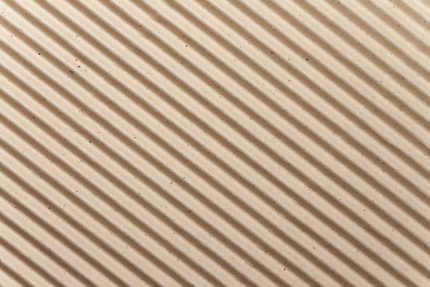 Texture de carton ondulé brun pour le fond Photo Premium